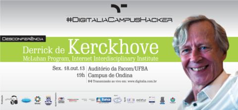 Link ao vivo com o Professor canadense Derrick de Kerckhove